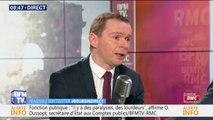 """Olivier Dussopt : """"Nous voulons qu'il y ait plus de CDI parmi les contractuels dans la fonction publique"""""""