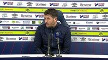 Conférence de presse Fabien Mercadal après SMCaen / FC Nantes