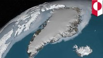 NASA spots massive crater under Greenland ice.