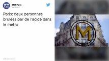 Paris. Deux passagers du métro brûlés par de l'acide sulfurique