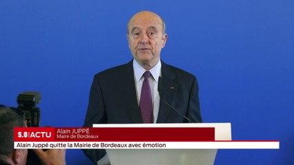 Alain Juppé quitte la mairie de Bordeaux avec émotion