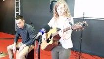 """Le concours """"Les jeunes ont du talent"""" prestation de Camille Musica, une rochelaise de 20 ans."""