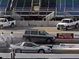 Street Racing - Camaro Races a Dodge Van