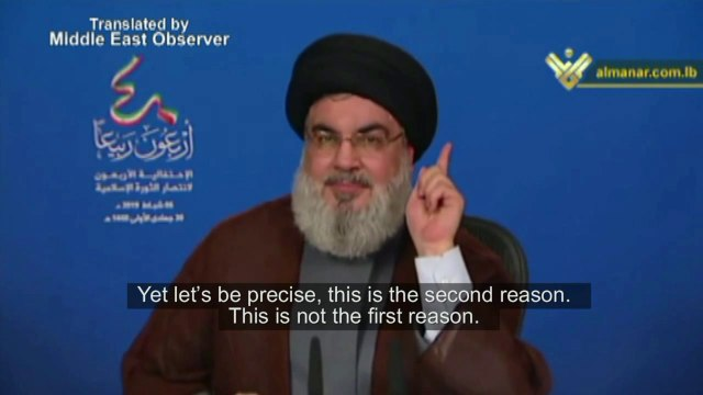 Nasrallah on 'real reason' why US continues '40 years of war on Iran' - English Subs