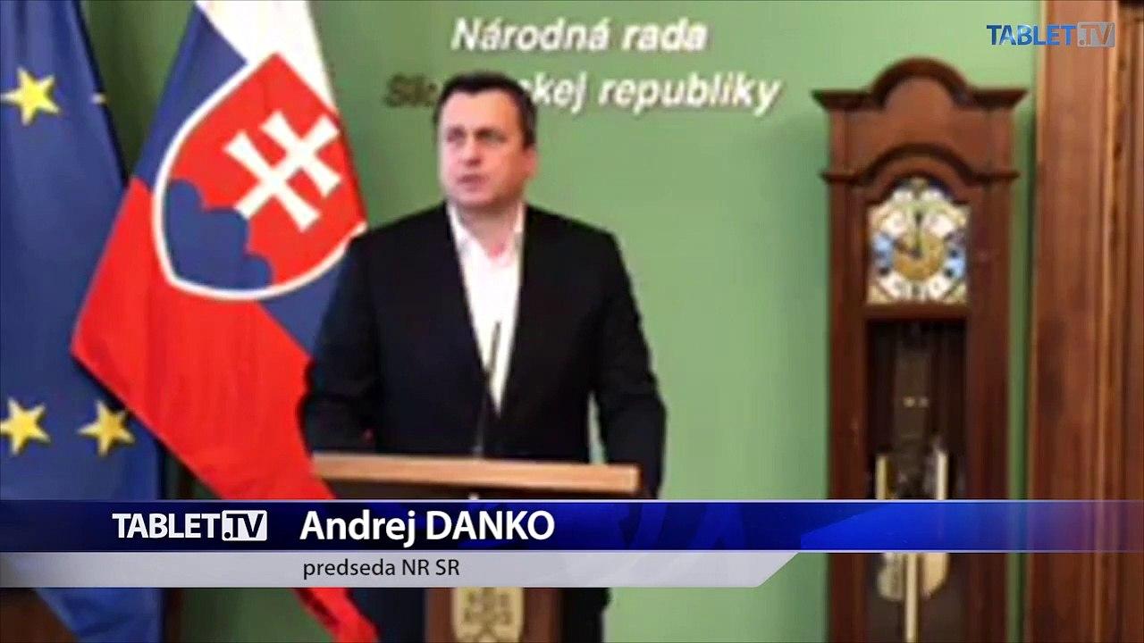 ZÁZNAM: Vyhlásenie predsedu Národnej rady SR Andreja Danka