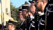 Un extrait de l'hommage national aux gendarmes victimes du devoir.