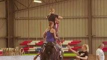 Video | Binicilik ile jimnastik buluştu: 'Atlı jimnastik'
