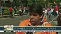 Colombia: profesores del sector público inician paro de 24 horas