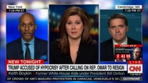 Erin Burnett's Panel speaks on Donald Trump accused of Hypocrisy after calling on Rep. Omar to resign. #DonaldTrump #News #CNN #Outfront @ErinBurnett