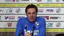 Avant  le match Olympique de Marseille - Amiens SC , Christophe Pélissier