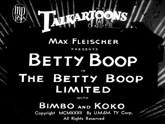 The Betty Boop Limited (1932)