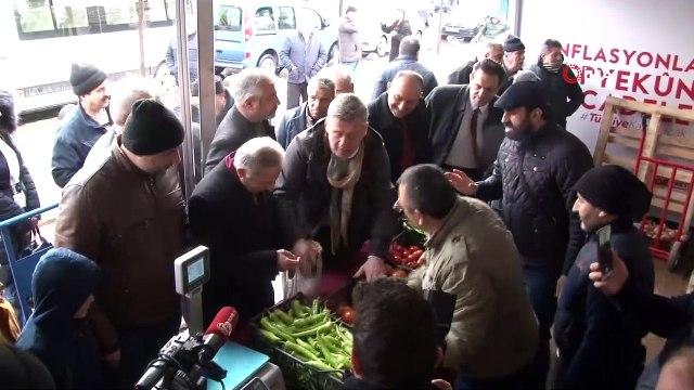 Metin Şentürk, Bayrampaşa tanzim satış noktasını ziyaret etti