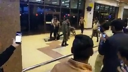 Unknown biker enters in Karachi International Airport