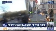 Gilets jaunes: des poubelles incendiées à Toulouse