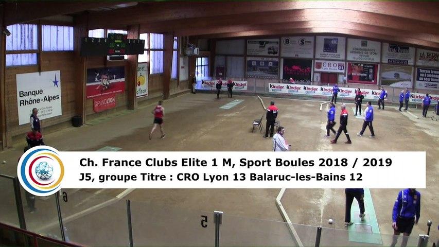 Troisième tour, tir progressif, France Club Elite 1, J5 groupe Titre,  CRO Lyon contre Balaruc-les-Bains,  saison 2018/2019