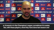 (Subtitled) Guardiola - sometimes easier to play Chelsea or Arsenal than Newport in FA Cup