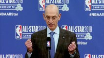 NBA Commissioner Adam Silver talks about developing international basketball players through a soccer-style academy system
