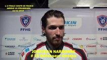 Hockey sur glace 2019-02-16 Jonathan Narbonne InterviewDéfenseur des Gothiques d'Amiens, ½ finale de la Coupe de France 2019 Amiens VS Strasbourg