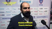 Hockey sur glace 2019-02-16 Mario Richer Interview Coach  des Gothiques d'Amiens CdeF 1/2 Finale Amiens VS Strasbourg