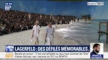 Une fusée, une forêt ou une plage au Grand Palais: les défilés mémorables de Karl Lagerfeld