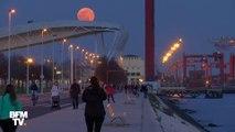 Les très belles images de la « Super Lune » qui a illuminé le ciel cette nuit