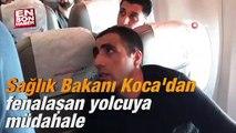 Sağlık Bakanı Koca'dan fenalaşan yolcuya müdahale