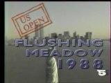 """La 5 - 1er Septembre 1988 - Pubs, Bande annonce, générique """"US Open 1988"""""""