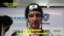 Numa HOCKEY SUR GLACE 2019-02-16 Numa Besson Interview # 32 Défenseur des  Pionniers de Chamonix, ½ finale de la Coupe de France 2019 - Lyon VS Chamonix