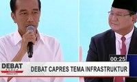 Serangan Balik Joko Widodo ke Prabowo Subianto Soal Infrastruktur (Debat Capres Kedua Bag 2)