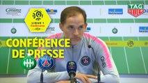 Conférence de presse AS Saint-Etienne - Paris Saint-Germain (0-1) : Jean-Louis GASSET (ASSE) - Thomas TUCHEL (PARIS) / 2018-19