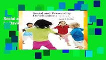 Social and Personality Development by David R Shaffer