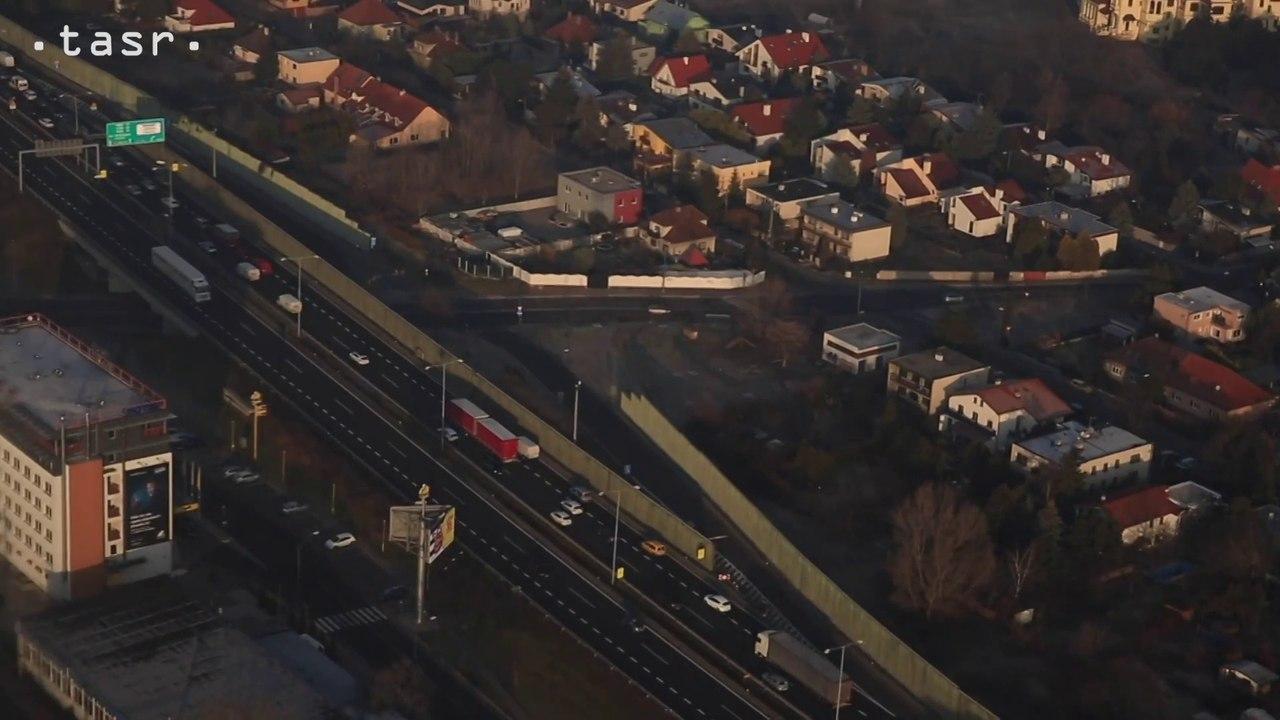Letecké zábery dopravnej situácie v Bratislave počas dopravných obmedzení