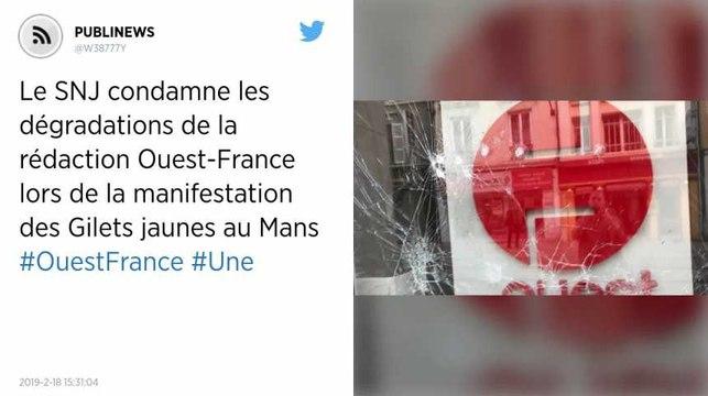 Le SNJ condamne les dégradations de la rédaction Ouest-France lors de la manifestation des Gilets jaunes au Mans