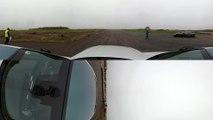 Lexus LFA vs Lexus LC500 - 360° DRAG & ROLLING RACE