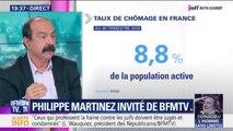 """Philippe Martinez répond à Édouard Philippe sur le chômage : """"Moi ce que je lui propose, c'est de trouver du boulot au gens"""""""