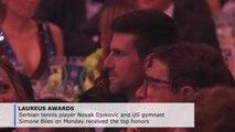 Djokovic, Simone Biles garner top honors at Laureus gala