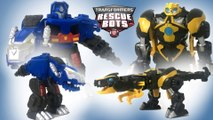 Transformers Rescue Bots Optimus Prime Bumblebee Primal Mode  || Keiths Toy Box