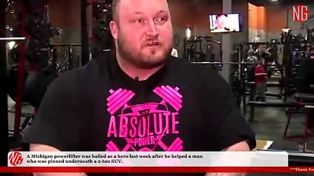 Real Life Hero Powerlifter Ryan Belcher Lifts Up Car To Save Man Inside