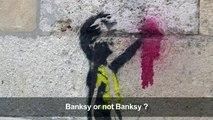 """Pochoirs pro-""""gilets jaunes"""" à Bordeaux: Banksy or not Banksy ?"""