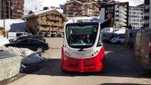 Une navette autonome électrique inaugurée à Val Thorens