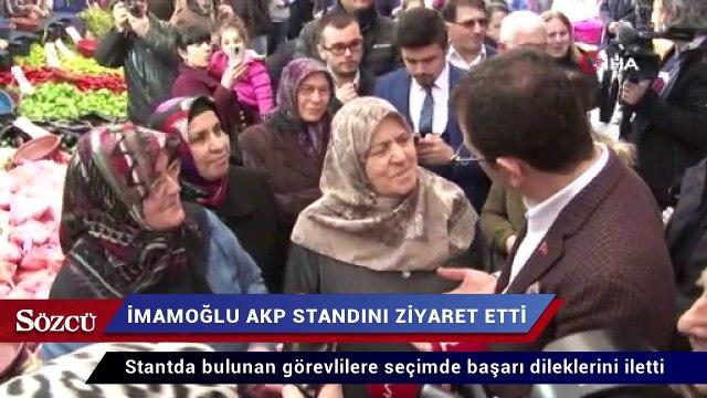 Ekrem İmamoğlu AKP standını ziyaret etti
