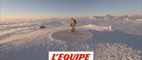 Matthias Dandois fait du BMX flat au sommet de l?Aiguille Rouge aux Arcs - Adrénaline - Tous sports
