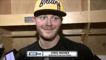 Chris Wagner after the Bruins overtime win over the Sharks