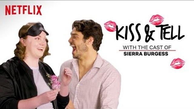 Sierra Burgess Is A Loser Cast Kiss Spaghetti & Other Weird Stuff | Kiss & Tell | Netflix