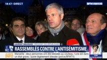 """Laurent Wauquiez : """"Ça suffit les croix gammées, ça suffit les profanations de cimetières"""""""