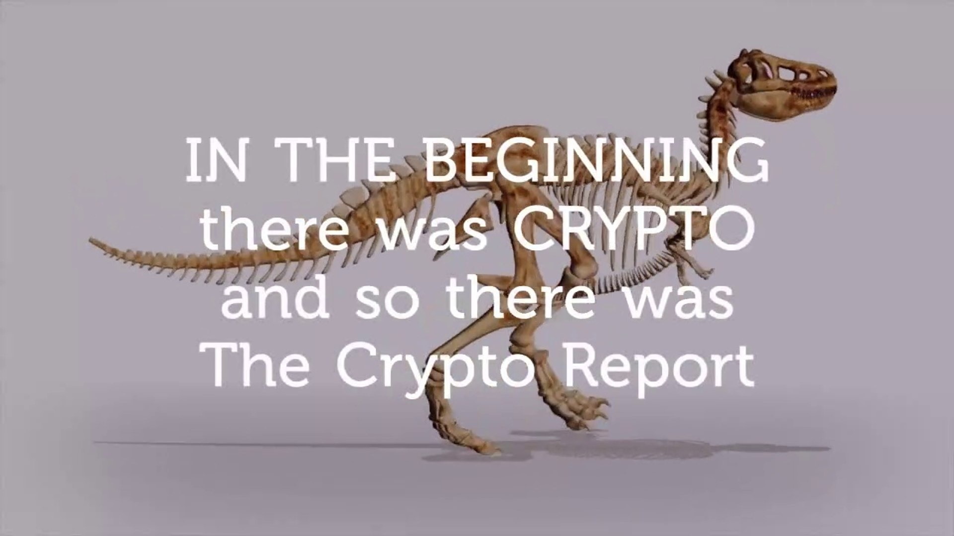 IN THE BEGINNING there was CRYPTO and so there was TheCryptoReport! Crypto Funny Advertising!
