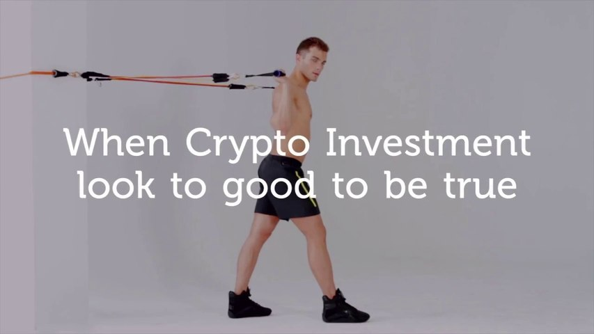 When Crypto Investment looks too good to be true. Crypto Funny Advertising!