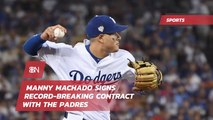 Manny Machado Gets Thrown A Record Breaking Contract