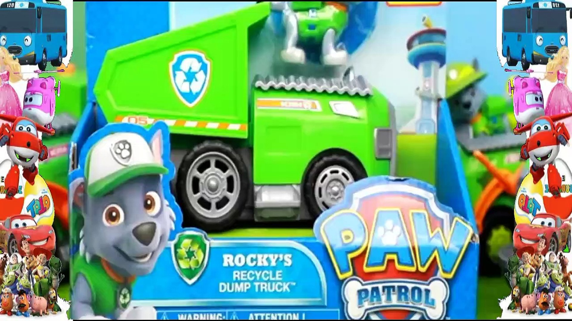 Paw Patrol Rocky S Recycle Dump Truck Video Dailymotion