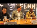 CONOR BENN TURNS PROFESSIONAL W/ MATCHROOM BOXING WITH NIGEL BENN & EDDIE HEARN (FULL) PRESSER